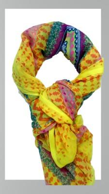 uniqus Geometric Print SIFFON Girl's Scarf