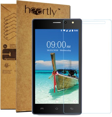 Heartly Tempered Glass Guard for Lava A82(Pack of 1)