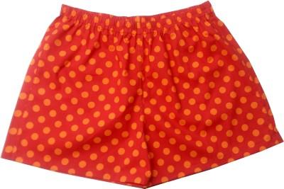 Always Kids Polka Print Women Red Regular Shorts