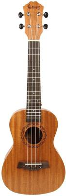 "Juarez JRZ23UK/NA 23"" Soprano Ukulele Kit, Aquila Strings (Made In Italy), Hawaiian Guitar, Rosewood Fingerboard, With Bag And Picks- Natural Brown Soprano Ukulele"