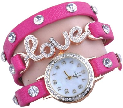 COSMIC beautiful Pink leather strap diamond studded love bracelet EXCLUSIVE LOVABLE COLLECTION LADIES & WOMEN Watch  - For Women