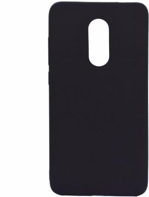 GadgetM Back Cover for Mi Redmi Note 5 Black, Silicon