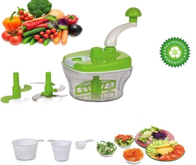 Classvilla Food Processor 3 in 1 Dough/Aata Maker, Vegetable Cutter, Blender, Whipper With 6 Attachments (4 Blades, 3 Measuring Cups) 950 ML Electric Chopper(Green, Clear, White)  available at flipkart for Rs.649