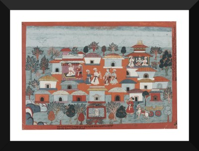 Tallenge An illustration to the Bhagavata Purana King Janaka greets Balarama ca 1750 - Indian Miniature Pahari Paintings Collection - Premium Quality Poster For Home And Office Décor Digital Reprint Painting(17 inch x 12 inch)  available at flipkart for Rs.999