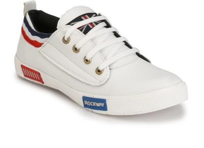 PISHOPPERS Sneakers For Men(White)