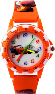 VITREND (TM) New Style Cartoon Car Round Dial Analog(Sent As Per Available Color) Watch - For Boys & Girls