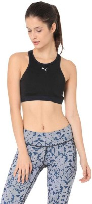 Puma PWRUN FAST BRA - M Women Sports Non Padded Bra(Black) at flipkart