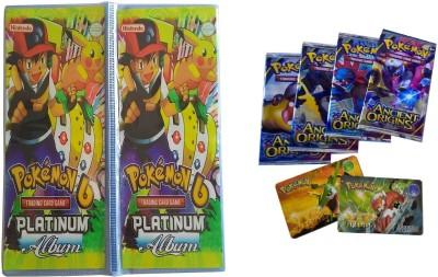 Krypton Pokemon Platinum Card Album (60 Pages) with VIP Cards Totally free (1 pcs)(Multicolor)  available at flipkart for Rs.449