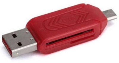 Oxza USB 2.0 + Micro USB OTG SD T-Flash Adapter for Cell Phone PC Card Reader(Red)  available at flipkart for Rs.199