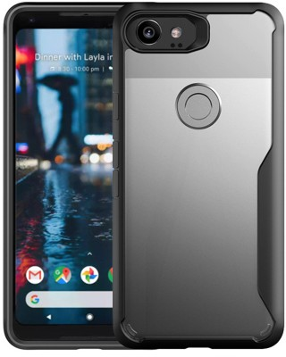 Tommcase Back Cover for Google Pixel 2 XL(Air Cushion Black, Shock Proof, Rubber)