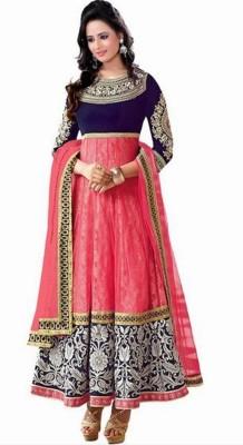 Reya Georgette Embroidered Salwar Suit Dupatta Material(Un-stitched)