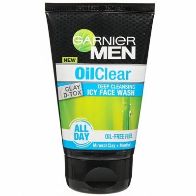 Garnier Men Oil Clear Clay D-Tox Face Wash(100 g)