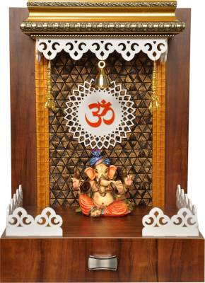 7CR Copper Diamond Wooden Home Temple