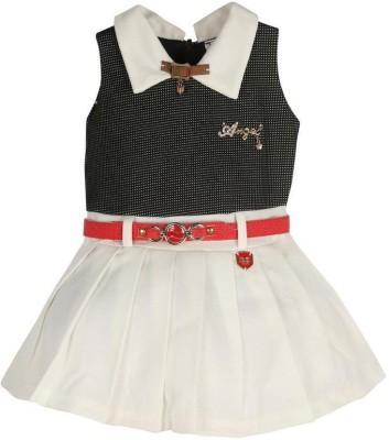 L.K.Vyapaar Pvt Ltd Girls Mini/Short Party Dress(Multicolor, Sleeveless)