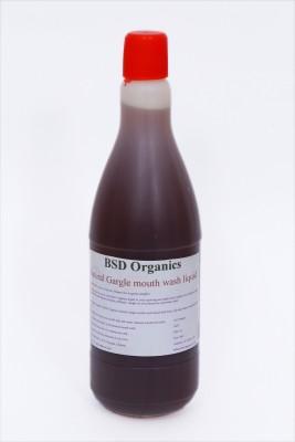 BSD Organics MOUTH WASH LIQUID - THULASI, CLOVE, ROCK SALT, EUCALYPTUS(1 L)