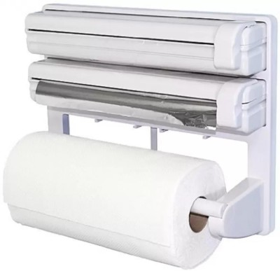Lagom ABS Strong Moulded Easy Flow™ Type-X-7 3-in-1 Kitchen Roll Holder Mount For Cling Film Towel Wrap Aluminium Foil Wall Mounted ABS Strong Moulded Easy Flow™ Type-X-7 Paper Dispenser Paper Dispenser  available at flipkart for Rs.899