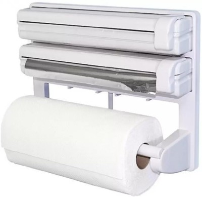 Lagom ABS Strong Moulded Easy Flow™ Type-X-9 3-in-1 Kitchen Roll Holder Mount For Cling Film Towel Wrap Aluminium Foil Wall Mounted ABS Strong Moulded Easy Flow™ Type-X-9 Paper Dispenser Paper Dispenser  available at flipkart for Rs.849