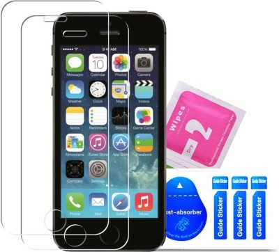 Bibossi Tempered Glass Guard for Apple iPhone 5, Apple iPhone 5C, Apple iPhone 5s, Apple iPhone 5 SE [4.0 Inch] - Pack of 2(Pack of 2)