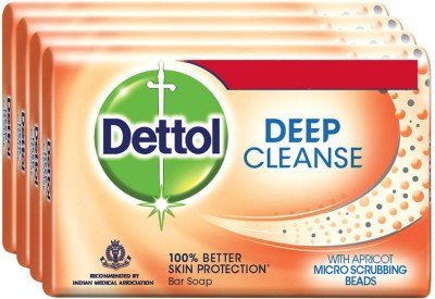 Dettol Deep Cleanse Soap(300 g, Pack of 4)