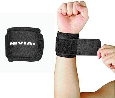 Nivia WS-583 Wrist Support (L, Black)  available at flipkart for Rs.200