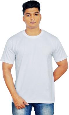 iTRENDII Solid Men's Round Neck Grey T-Shirt