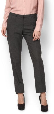 Van Heusen Slim Fit Women Black Trousers at flipkart