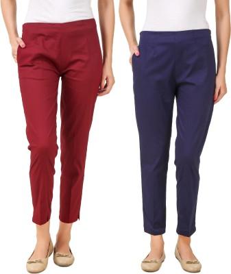 Q-Rious Regular Fit Women Multicolor Trousers