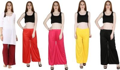 Marami Regular Fit Women Beige, Pink, Red, White Trousers
