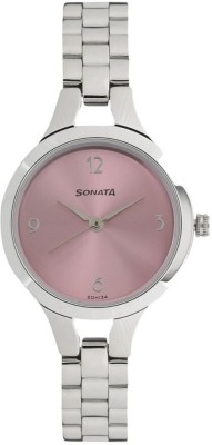 Sonata 8151SM03 Steel Daisies Analog Watch For Women