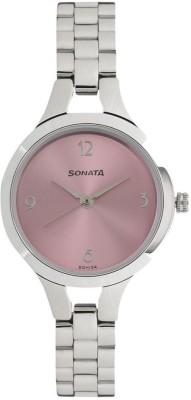 Sonata 8151SM03 Steel Daisies Analog Watch - For Women