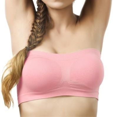 Secret World Women's Tube Bra(Pink)  available at flipkart for Rs.145