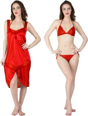 MILIT Women Nighty(Red)