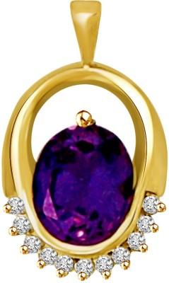 Surat Diamond Oval Encirlce 18kt Amethyst, Diamond Yellow Gold Pendant Surat Diamond Pendants   Lockets