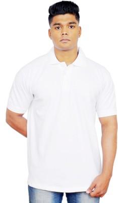 iTRENDII Solid Men's Polo Neck White T-Shirt