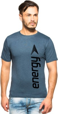 Clifton Printed Men's Round Neck Dark Blue T-Shirt