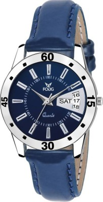Fogg 3039-BL Day And Date Analog Watch For Women