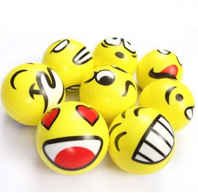 Infinxt Smiley Emoji Stress Relives Ball Bath Toy(Yellow)