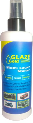 Glaze Gold Liquid Car Polish for Windscreen, Leather, Tyres, Dashboard, Metal Parts, Chrome Accent, headlight, Exterior(225 ml)  available at flipkart for Rs.144