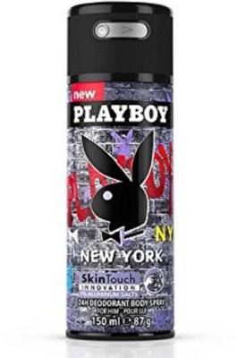Playboy Newyork 24H Deodorant Body Spray, For 150 ml