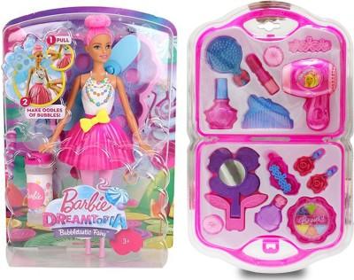 AKSHAT Barbie Dreamtopia Bubbletastic Fairy Doll With Beauty Fashion Set(Multicolor)  available at flipkart for Rs.1199