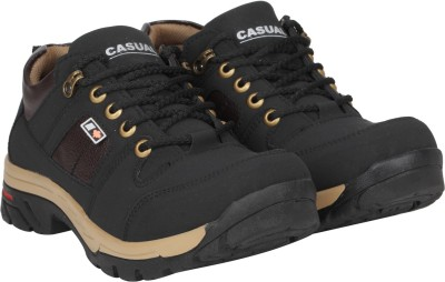 Kraasa Solid Black colour Casuals Mens shoes
