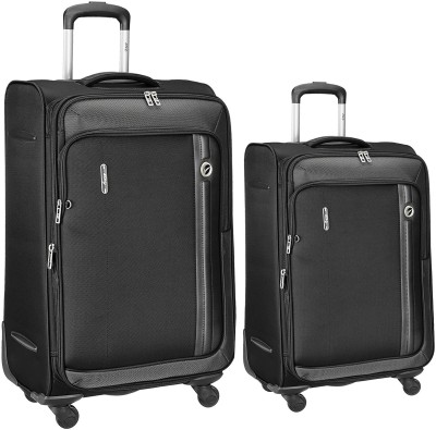 VIP Unicorn x set of 2 bags 68 cms and 56 cms Expandable  Check-in Luggage - 27 inch(Black)