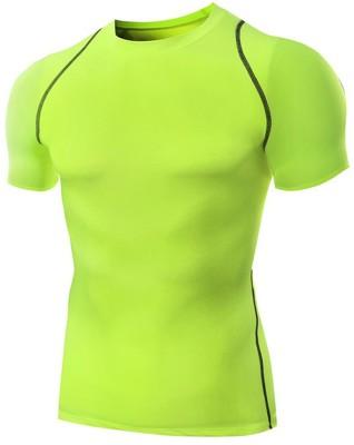 Zesteez Solid Men & Women Round Neck Green T-Shirt