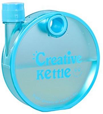 Rangoli Creative kettle Round Flat Snail Plastic Notebook Water 350 ml Bottle 350 ml Bottle(Pack of 1, Blue)  available at flipkart for Rs.190