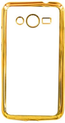 COVERNEW Back Cover for Samsung Galaxy Core II G355H Gold, Transparent COVERNEW Plain Cases   Covers