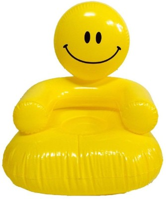 HALO NATION High Quality Inflatable Smiley Bear Sofa Chair for Kids Inflatable Sofa/ Chair(Yellow)  available at flipkart for Rs.421