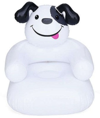 HALO NATION High Quality Inflatable Happy Puupy Sofa Chair for Kids Inflatable Sofa/ Chair(White)  available at flipkart for Rs.424
