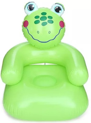 HALO NATION High Quality Inflatable Cute Froggy Sofa Chair for Kids Inflatable Sofa/ Chair(Green)  available at flipkart for Rs.419