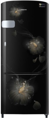 Samsung 192 L Direct Cool Single Door 3 Star Refrigerator with Base Drawer(Pebble Blue, RR20R182ZUT/HL)