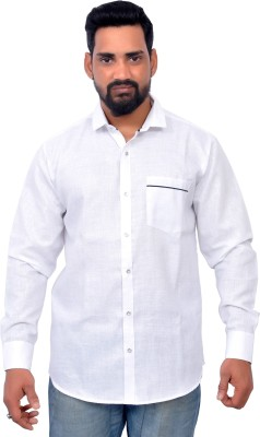 Gloria Shirts Men's Solid Casual Mandarin Shirt